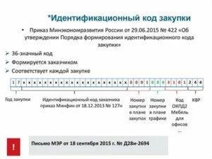 Идентификационный код закупки по 223 фз на 2020 год где взять