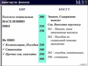 Квр экр субкосгу расшифровка в 2020 году для бюджетных учреждений