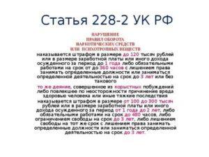 Статья 228 часть 4 последние поправки 2019