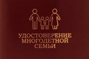 Удостоверение Многодетной Семьи Что Дает В 2020 Году В Пермском Крае