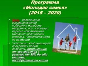 Государственная Поддержка Молодых Семей В Рф 2020