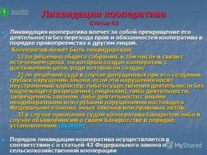 Ликвидация дачного потребительского кооператива пошаговая инструкция 2020
