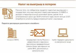 Налог На Выигрыш В Лотерею В России С Какой Суммы 2020