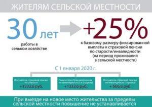 Льготы пенсионерам в сельской местности в 2020 году