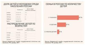Количество детей в семьях в россии статистика 2020