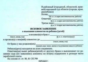 Заявление на алименты в бухгалтерию от исца образец 2020