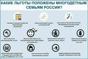 Льготы для многодетных малоимущих семей в 2019 году в пермском крае
