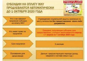 Документы для продления субсидии на оплату коммунальных услуг 2020