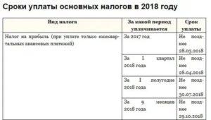 Сроки оплаты налога на прибыль 2019