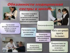 Должностная инструкция медицинской сестры школы 2020