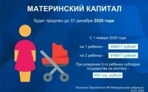 Материнский капитал до какого года продлили до 2020 включительно или нет
