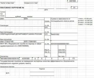 Платежное поручение госпошлина на регистрацию автомобиля в гибдд 2020