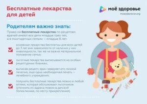 Закон о бесплатных лекарствах детям до 3 лет 2020