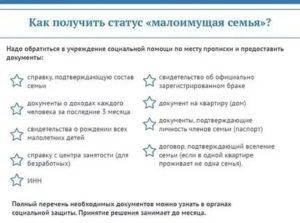 Документы Для Подтверждения Статуса Малоимущей Семьи 2020 Москва
