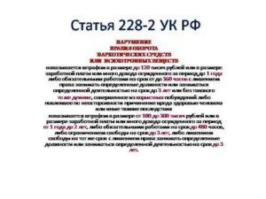 Поправки По Статье 228 Часть 2 На2020