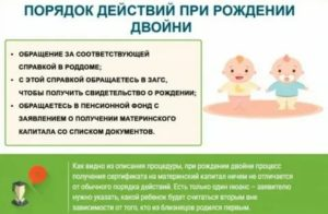 Материнский капитал при рождении двойни первые роды в 2020 году