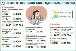 Какая семья считается многодетной в московской области в 2020 году
