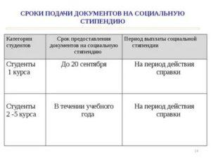 Перечень документов на получение социальной стипендии в 2020 году