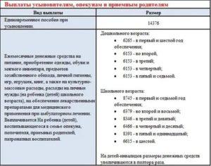 Сколько получают опекуны на ребенка 2020 в россии