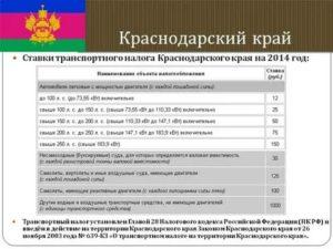 Транспортный налог для пенсионеров в 2020 году в краснодарском крае