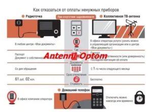 Как отключить коллективную антенну в москве 2020 в мфц